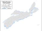 B&W County Boundaries & Shading (CMC-668)